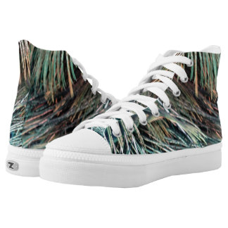 Magnificent Peacock  Feather High Tops