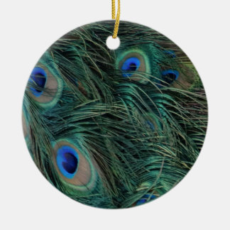 Magnificent Peacock Feathers Christmas Ornament