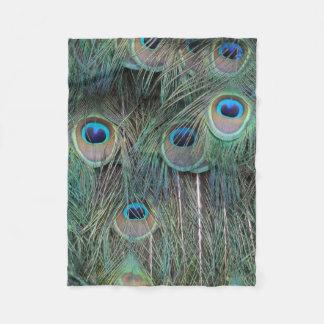 Magnificent Peacock Feathers Fleece Blanket