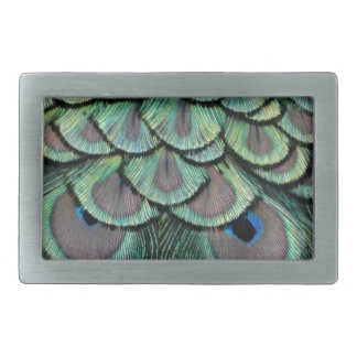 Magnificent Peafowl Feather Eyes Belt Buckles