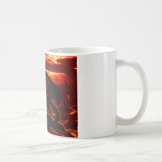 Magnificent Red Dragon Basic White Mug