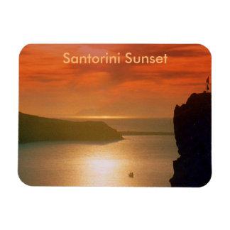Magnificent Santorini Sunset Rectangular Photo Magnet