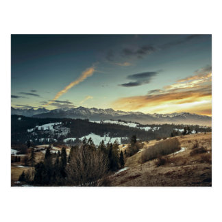 magnificent zakopane landscape postcard