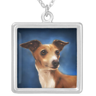 Magnifico - Italian Greyhound Art Necklace