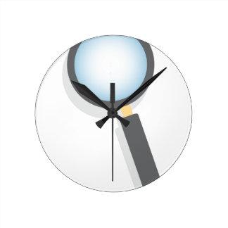 Magnifying Glass Clocks