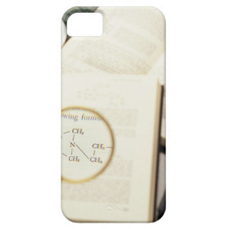 Magnifying glass enlarging molecular diagram iPhone 5 cases