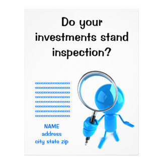 Magnifying Glass Inspection Flyers