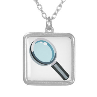 Magnifying Glass Square Pendant Necklace