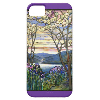 Magnolia and Iris Stained Glass Window iPhone 5 Covers