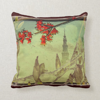 Magnolia and Maple Flower by Alexandra Cook Throw Cushion