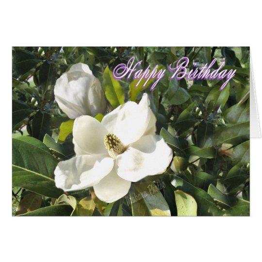 Magnolia birthday-add your own words card