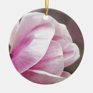magnolia blooming  on tree christmas ornament