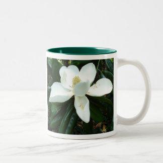 Magnolia Blossom Two-Tone Coffee Mug