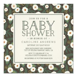 Magnolia Blossoms Baby Shower Invitation