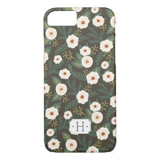 Magnolia Blossoms Floral Monogram iPhone 7 Case