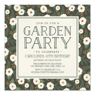 Magnolia Blossoms Garden Party Invitation