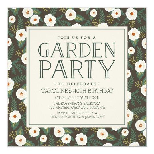 Magnolia Blossoms Garden Party Invitation