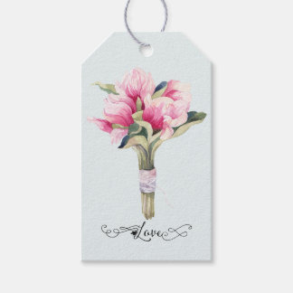 Magnolia Bouquet Love with Swirls Gift Tags