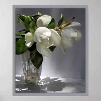 Magnolia Bouquet Print