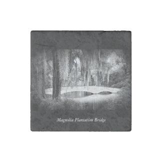 Magnolia Bridge Stone Magnet