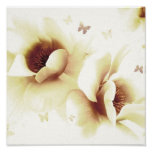 Magnolia - Cream Posters