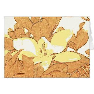 Magnolia Digital Sketch Greeting Card