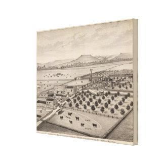 Magnolia Farm, Kansas Canvas Print