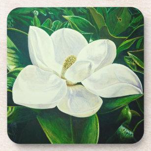 Magnolia Floral coaster for tea time