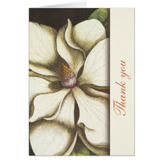 Magnolia Floral Thank You Notes