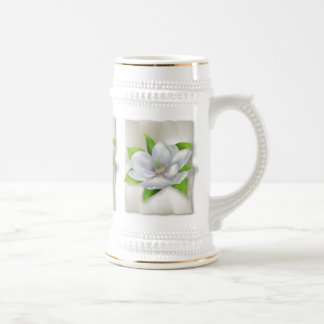 Magnolia Flower Beer Stein