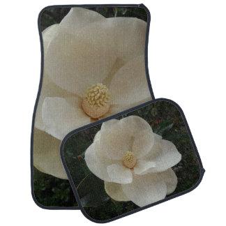 Magnolia Flower Car Floor Mats (Full Set)