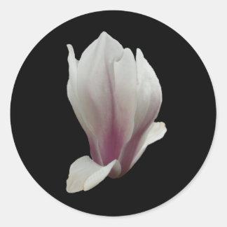 Magnolia Flower Classic Round Sticker