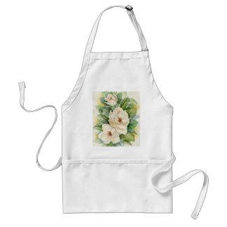 Magnolia Flower Watercolor Art - Multi Standard Apron