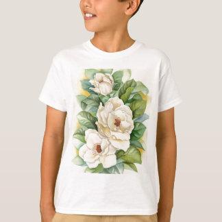 Magnolia Flower Watercolor Art - Multi T-Shirt