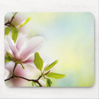 Magnolia Flowers Mouse Pads