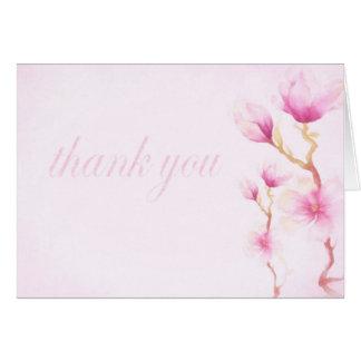 Magnolia flowers thankyou card