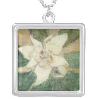 Magnolia Grandiflora Silver Plated Necklace