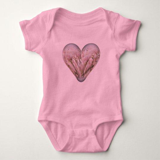 magnolia heart baby bodysuit
