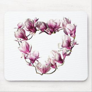 Magnolia Heart Mouse Pad