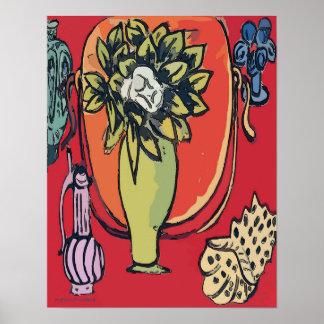 Magnolia in Vase, after Matisse Poster