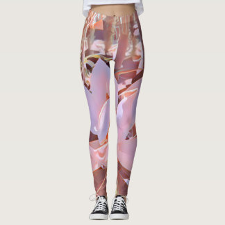 Magnolia leggings in dusty pink and brown