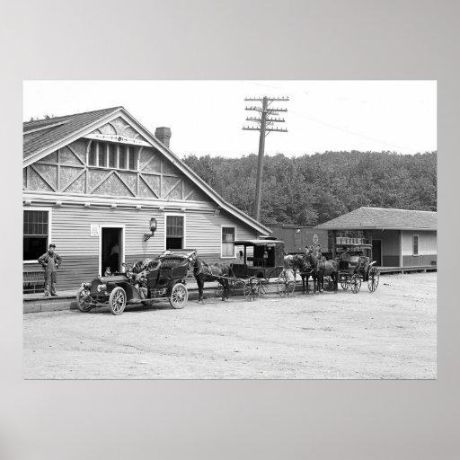 Magnolia, Mass. Train Station, 1906 Print