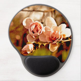 Magnolia Mood in Pink Gel Mouse Pad