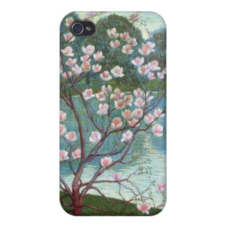 Magnolia (oil on canvas) iPhone 4/4S cases