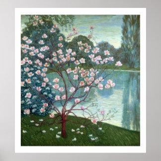 Magnolia (oil on canvas) poster