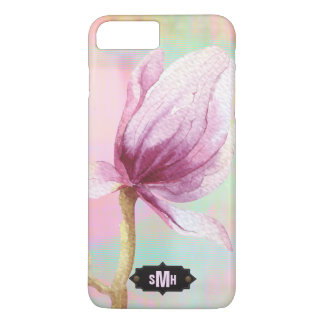 Magnolia Pastel Watercolor Monogram | Personalized iPhone 8 Plus/7 Plus Case