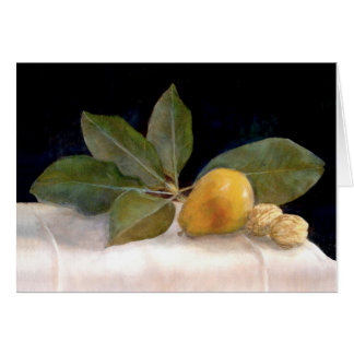 Magnolia, Pears and Walnuts Card