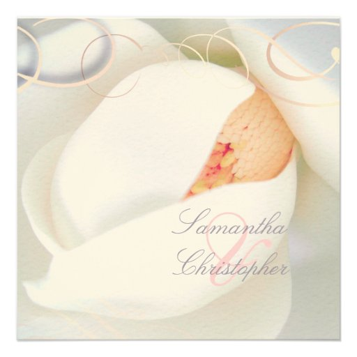 Magnolia/romantic wedding invitations