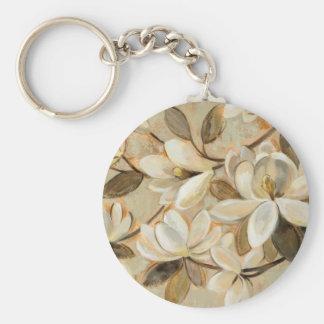 Magnolia Simplicity Cream Basic Round Button Key Ring