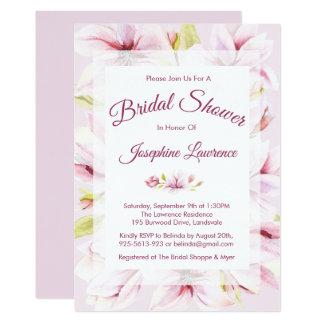 Magnolia Spring Floral Bridal Shower Invitations